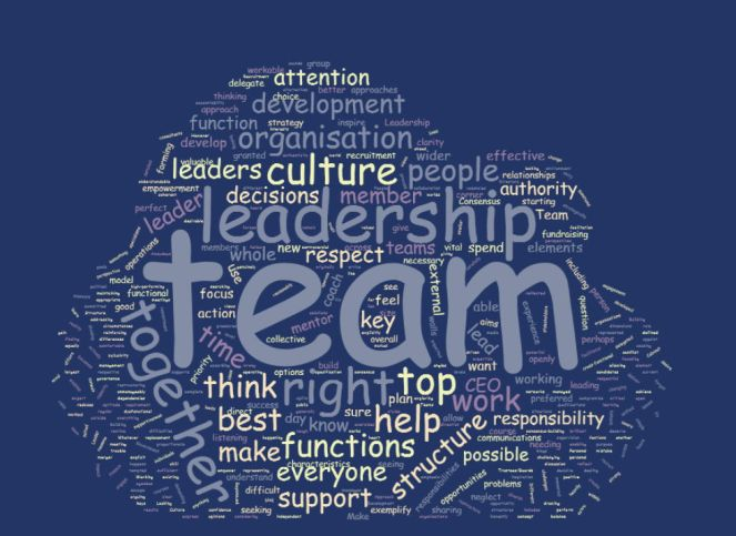 leadership team wordcloud